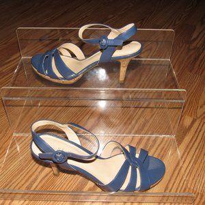KELLY & KATIE Blue Heel Sandals Size 8.5